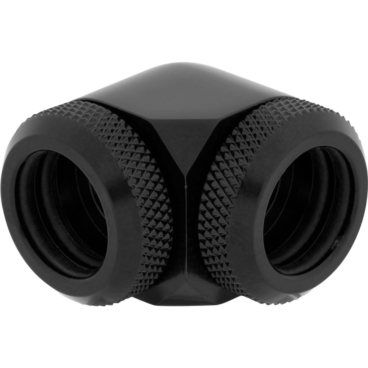 CORSAIR Hydro X Series XF Hardline 90° 14mm OD Fitting Twin Pack - Black