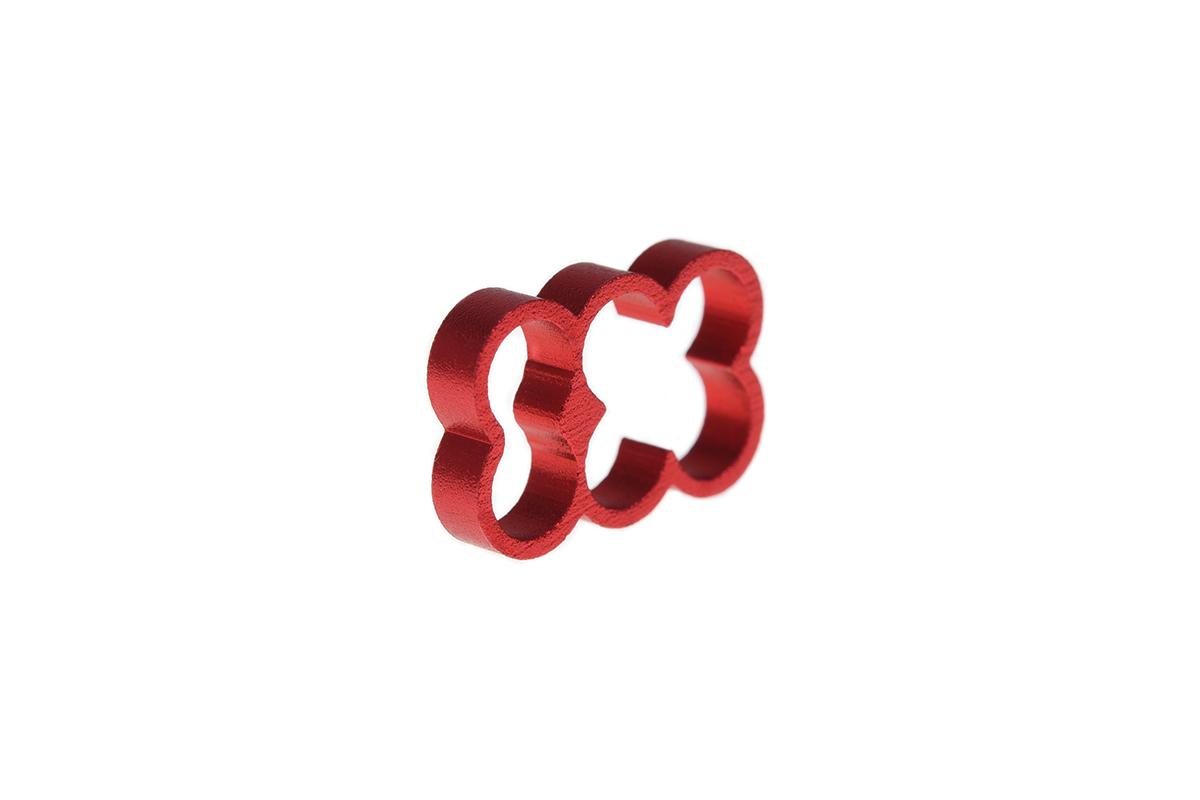 Alphacool Eiskamm Alu X6 - 4mm red - 4 pcs