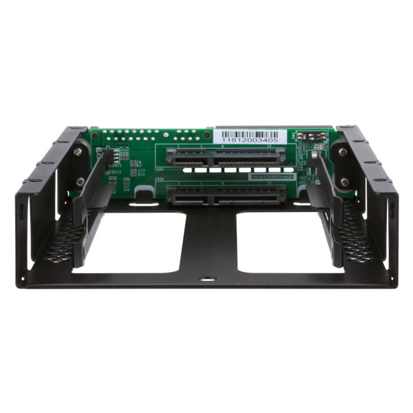 QNAP QDA-A2AR 2.5インチ ドライブ2台搭載可能 3.5インチSATA  RAID ユニット
