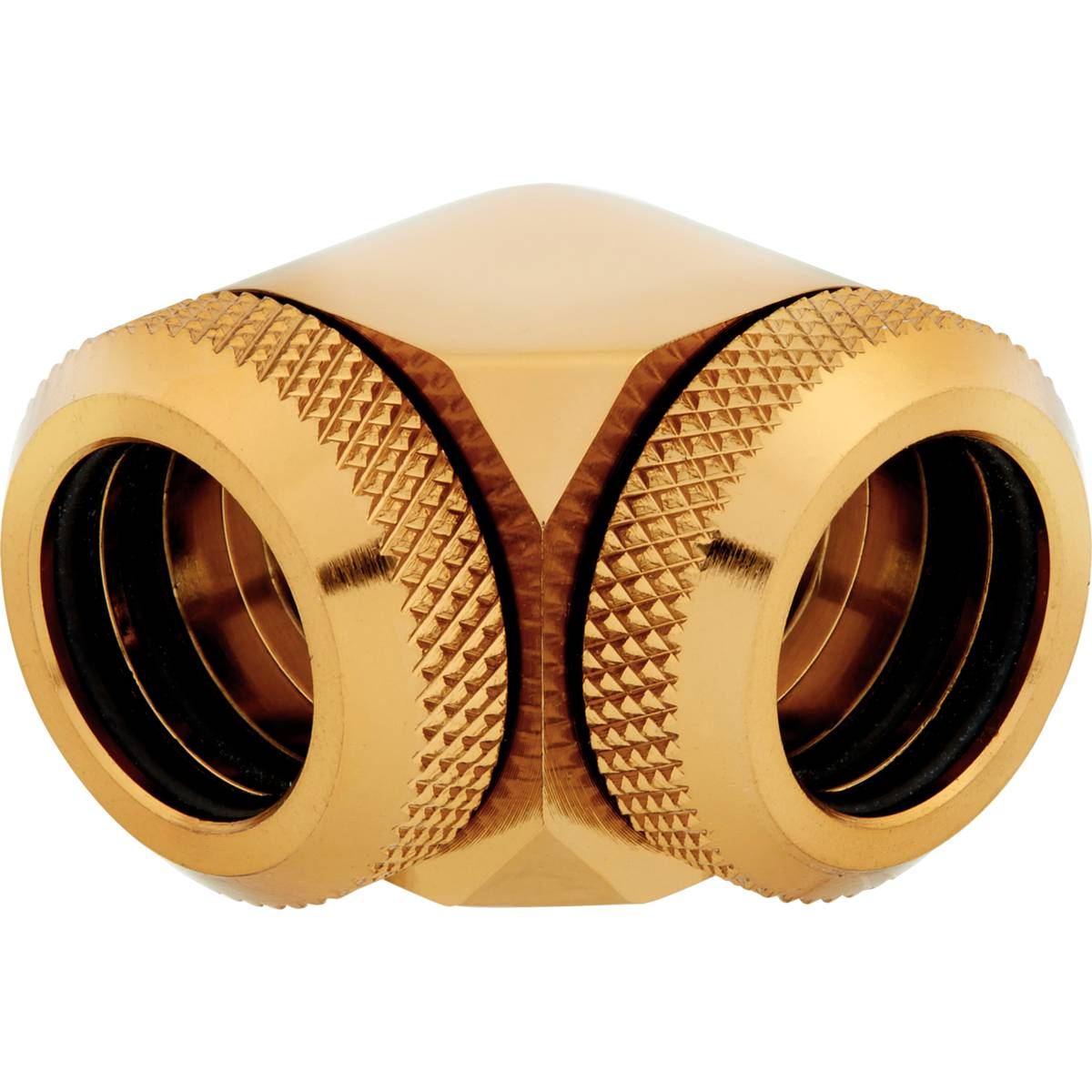 CORSAIR Hydro X Series XF Hardline 90° 14mm OD Fitting Twin Pack - Gold