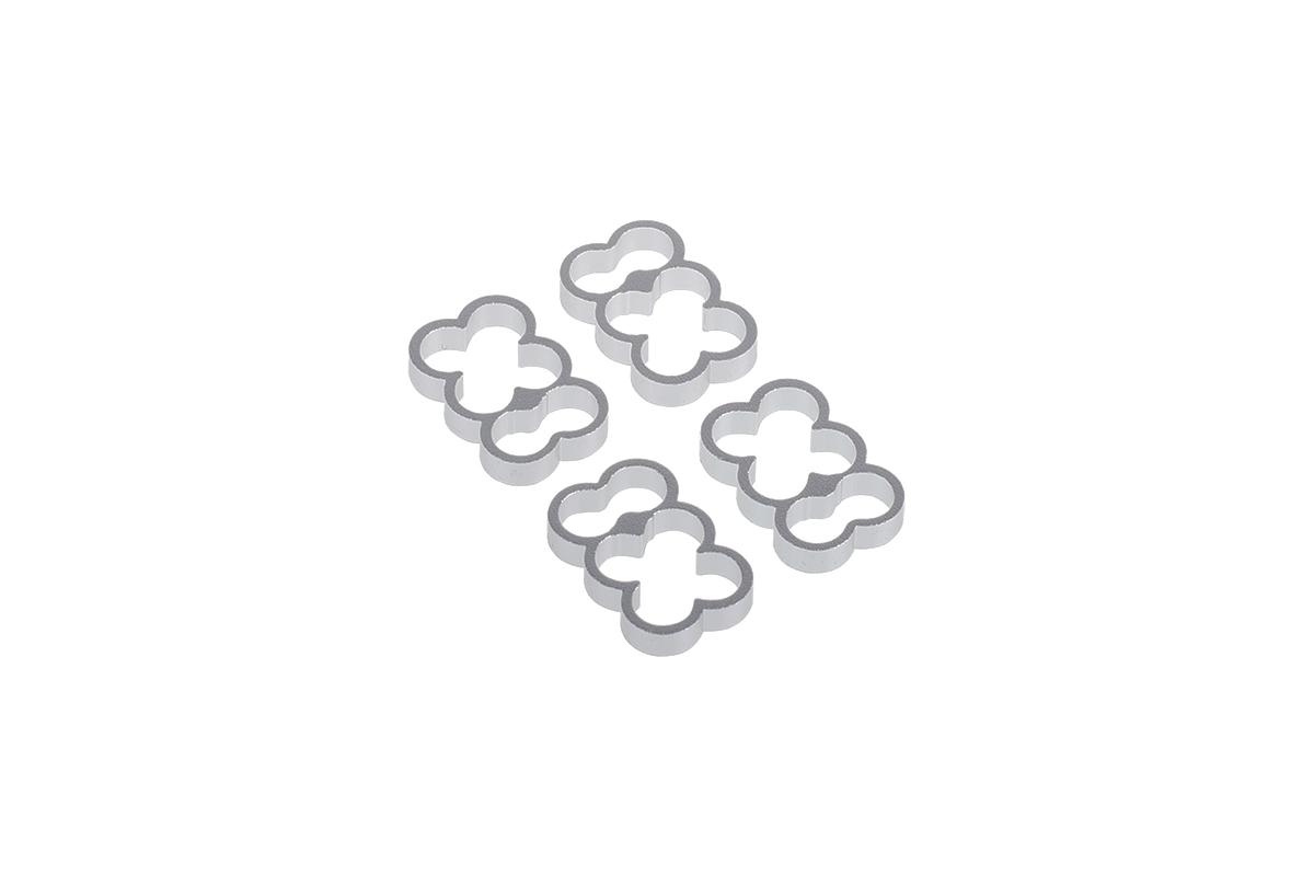Alphacool Eiskamm Alu X6 - 4mm silver - 4 pcs