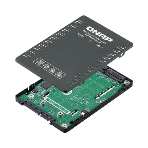 QNAP QDA-A2MAR M.2 SATA ドライブ2台搭載可能 2.5インチSATA  RAID ユニット