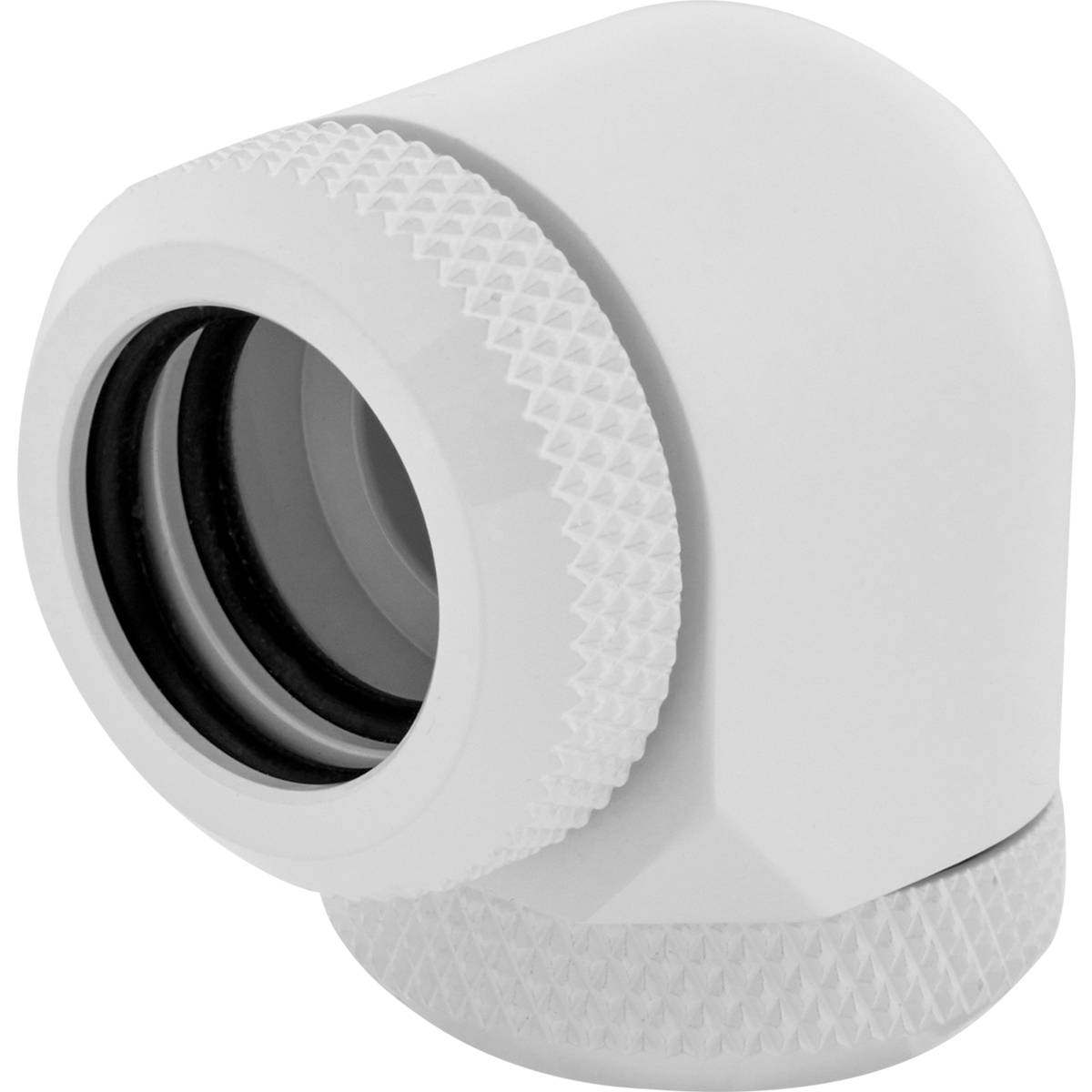 CORSAIR Hydro X Series XF Hardline 90° 14mm OD Fitting Twin Pack - White