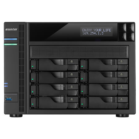 ASUSTOR AS6208T 2.5/3.5インチ HDD 8台搭載可能