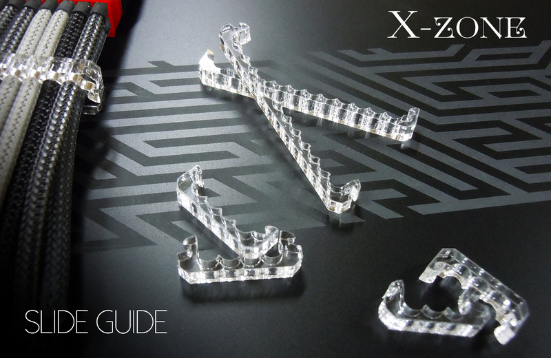 X-ZONE Sleeve Holder 8Pin スライドラッチ式 4mm用 クリア