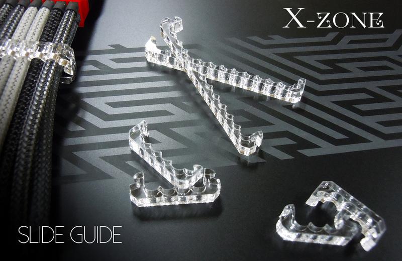X-ZONE Sleeve Holder 24Pin スライドラッチ式 4mm用 クリア