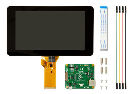 "Pi 7"" Touchscreen Display for 3/2/1 [899-7466]"
