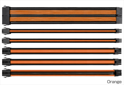 Thermaltake TtMod Extend Sleeve Cable Combo Pack Orange (AC-036-CN1NAN-A1)