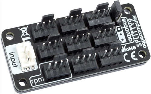 aquacomputer SPLITTY9 splitter for up to 9 fans or aquabus devices