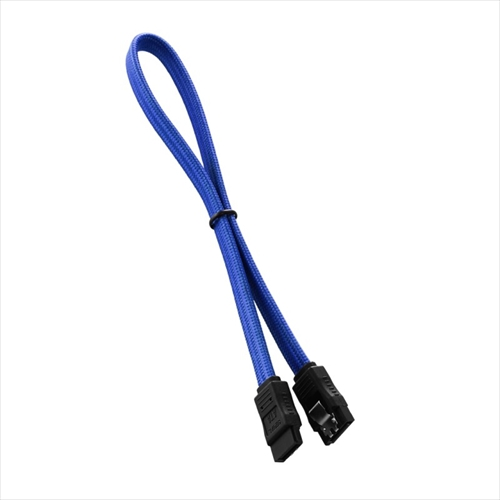 CableMod ModFlex SATA 3 Cable 30cm - BLUE (CM-CAB-SATA-30KB-R)