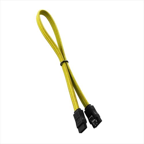 CableMod ModFlex SATA 3 Cable 30cm - YELLOW (CM-CAB-SATA-30KY-R)