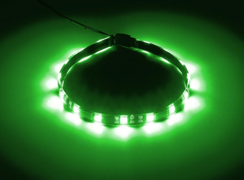 CableMod WideBeam Magnetic LED Strip - 30cm - GREEN (CM-LED-15-M30KG-R)