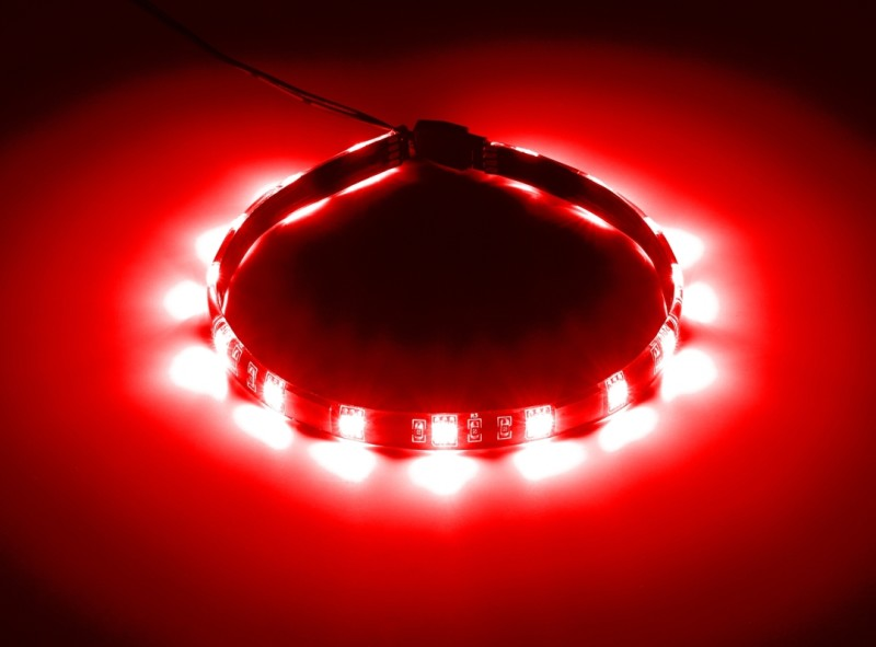 CableMod WideBeam Magnetic LED Strip - 30cm - RED (CM-LED-15-M30KR-R)