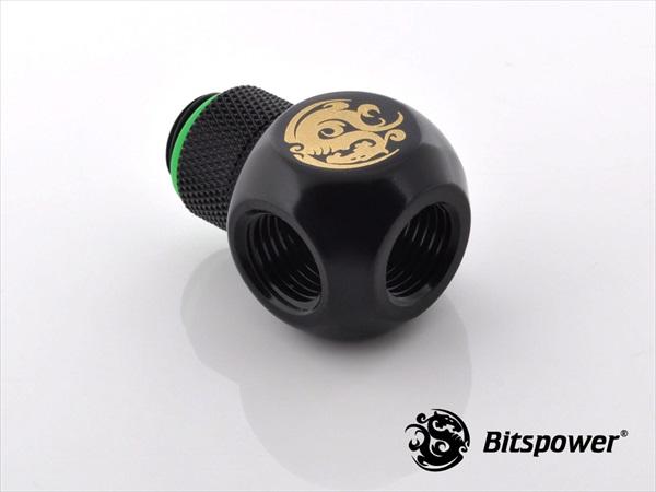 "Bitspower G1/4"" Matt Black TII-Rotary IG1/4""X2 Extender"