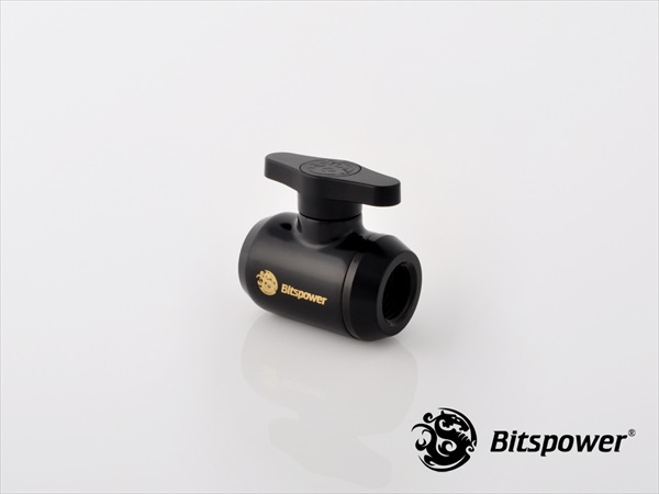 Bitspower Matt Black Mini Valve With Black Handle