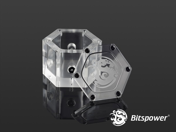 Bitspower Water Tank Hexagon - Acrylic (Limited Edition)