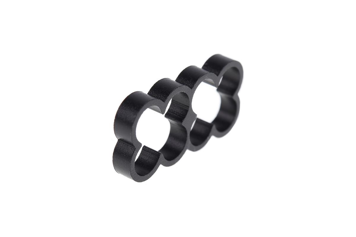 Alphacool Eiskamm Alu X8 - 4mm black - 4 pcs