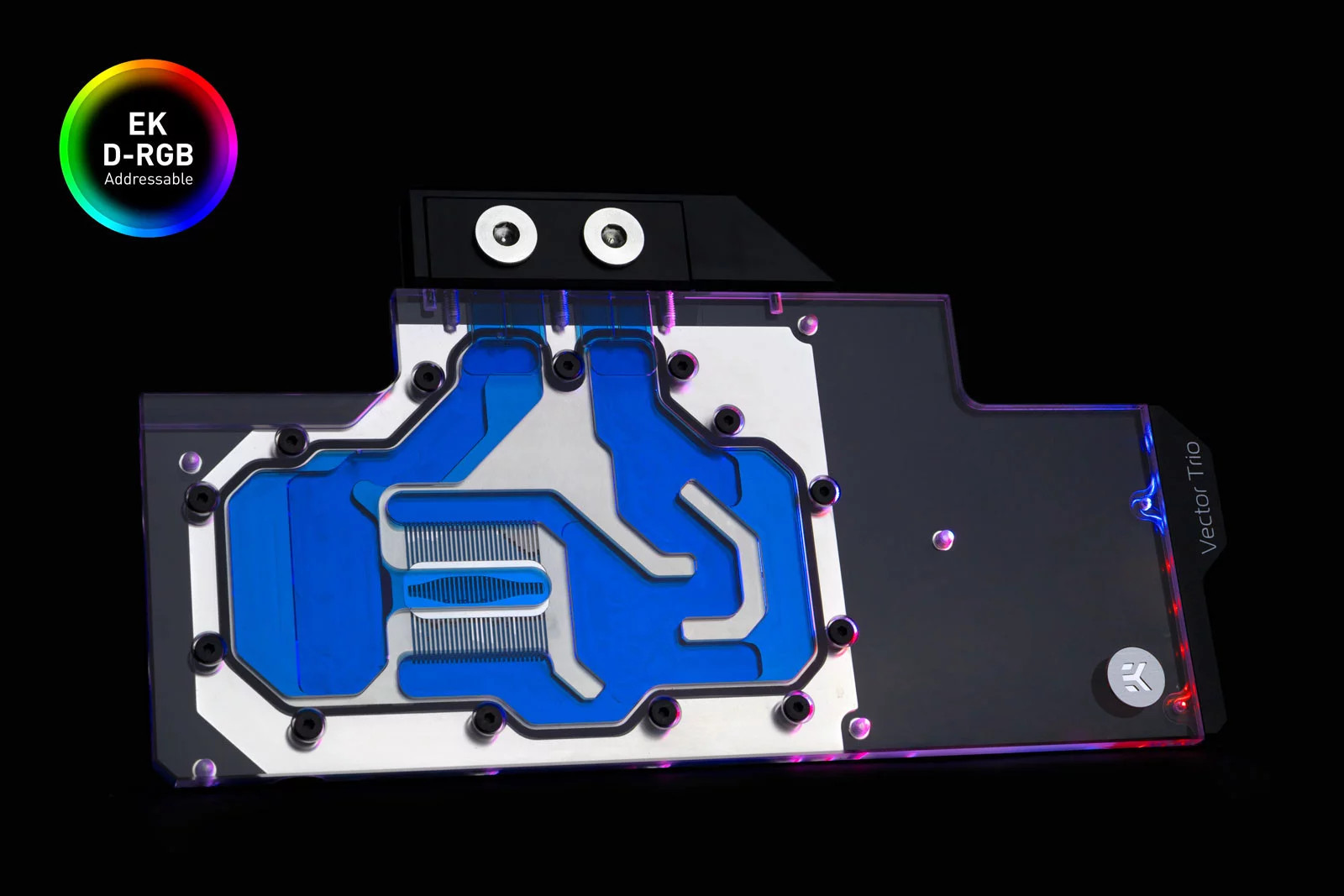 EK WaterBlocks EK-Quantum Vector Trio RTX 2080 Ti D-RGB - Nickel + Plexi