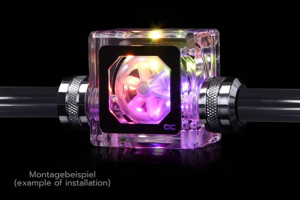 "Alphacool Eisfluegel Aurora flow indicator ""HighFlow"" with RPM-Signal"