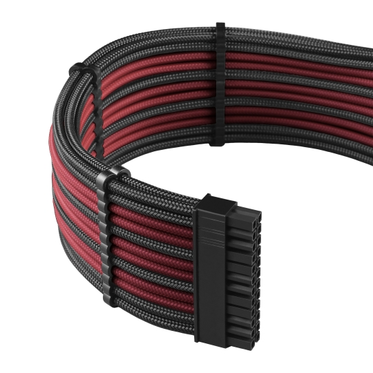 CableMod PRO ModMesh C-Series RMi & RMx Cable Kit - CARBON / RED (CM-PCSR-FKIT-NKCR-R)