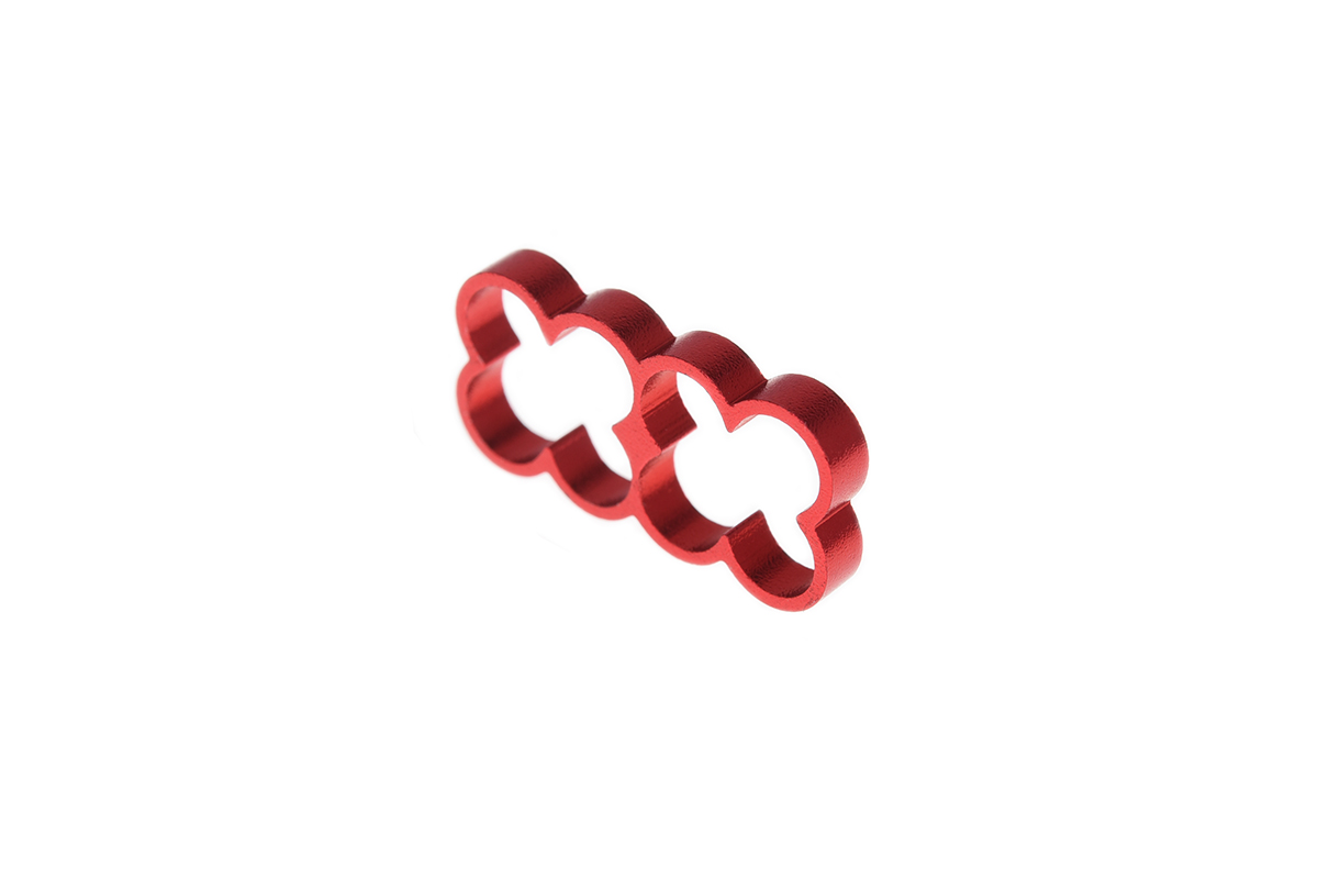Alphacool Eiskamm Alu X8 - 4mm red - 4 pcs