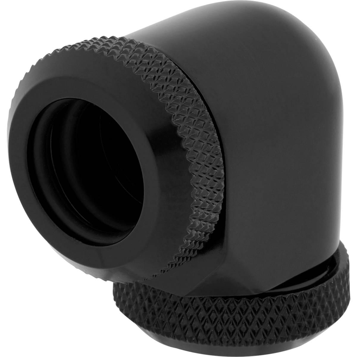 CORSAIR Hydro X Series XF Hardline 90° 12mm OD Fitting Twin Pack - Black