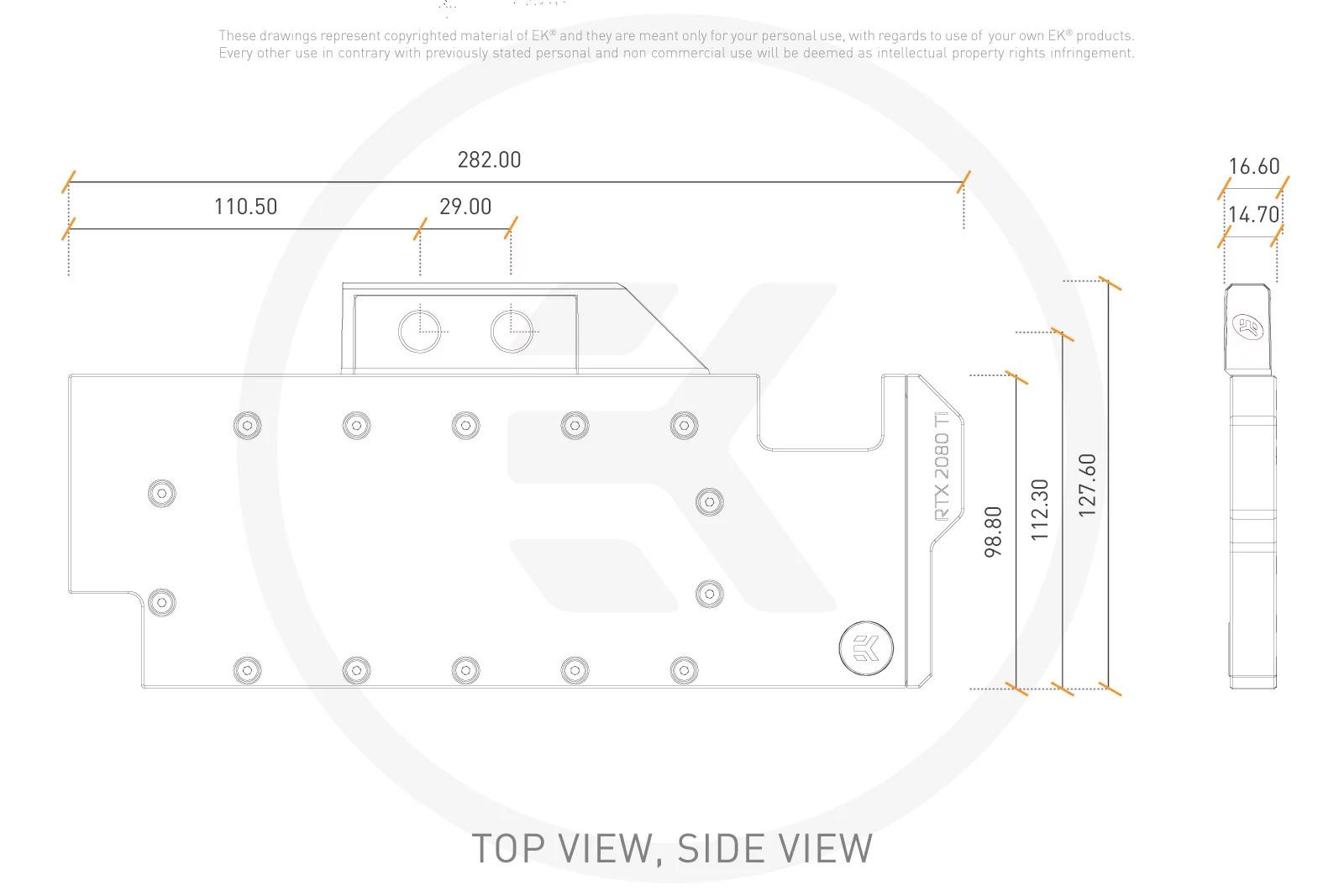 EK WaterBlocks EK-Quantum Vector RTX RE Ti D-RGB - Nickel + Plexi