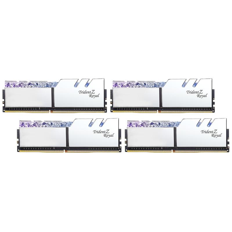 G.SKILL Trident Z Royal DDR4-3200 8GBx4 Silver (F4-3200C16Q-32GTRS)