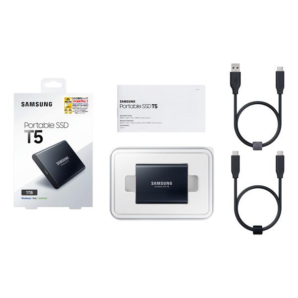 SAMSUNG MU-PA2T0B/IT 2TB Portable SSD T5 シリーズ
