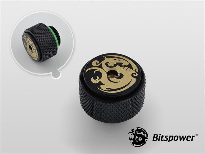 """Bitspower G1/4"""" Matt Black AIR-Exhaust Fitting"""