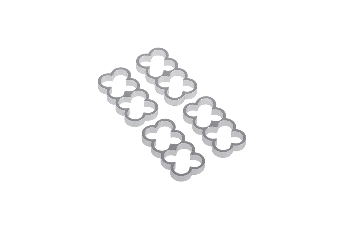 Alphacool Eiskamm Alu X8 - 4mm silver - 4 pcs