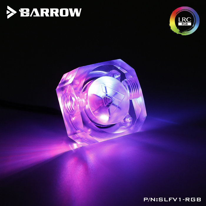 Barrow new type LRC2.0 version Flow Indicator for water cooling system Emerald color
