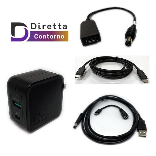 OLIOSPECオリジナルGaN (窒化ガリウム) 採用USB出力2ポート充電器DCアダプター化キット