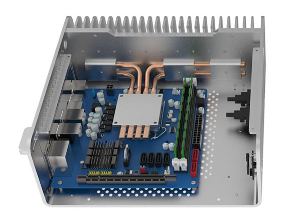 STREACOM FC8 Alpha Fanless Chassis - With Optical Slot- ブラック  (ST-FC8B-OPT-ALPHA)