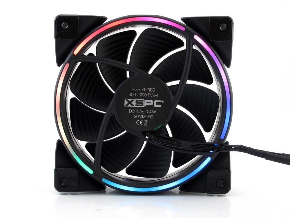 XSPC RGB Series 120mm Fan - PWM 800-2200RPM -5V 3Pin Addressable RGB