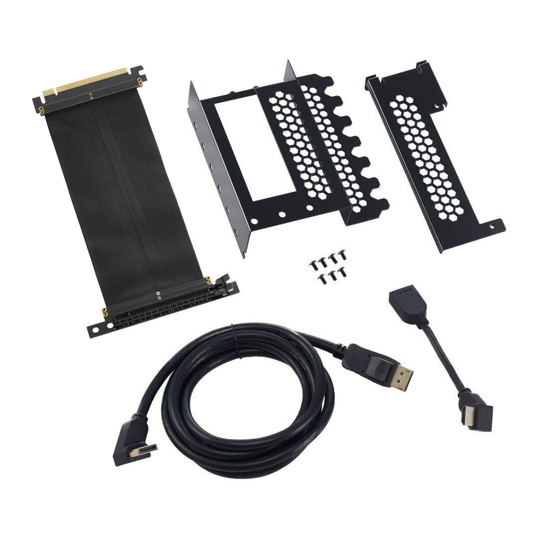 CableMod Vertical PCI-e Bracket - HDMI + DisplayPort - BLACK (CM-VPB-HDK-R)