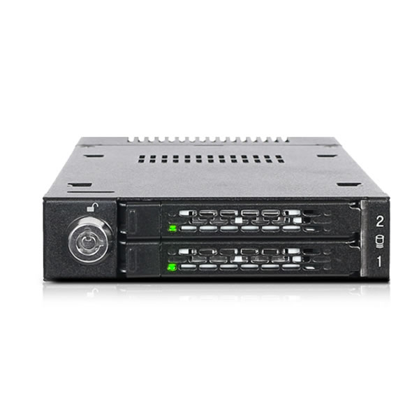 ToughArmor MB834M2K-B 3.5インチベイ用 NVMe M.2 SSD 2台搭載可能 ICYDOCK