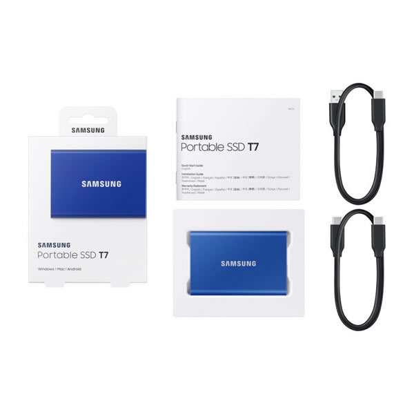 SAMSUNG MU-PC500H/IT 500GB Portable SSD T7 インディゴブルー