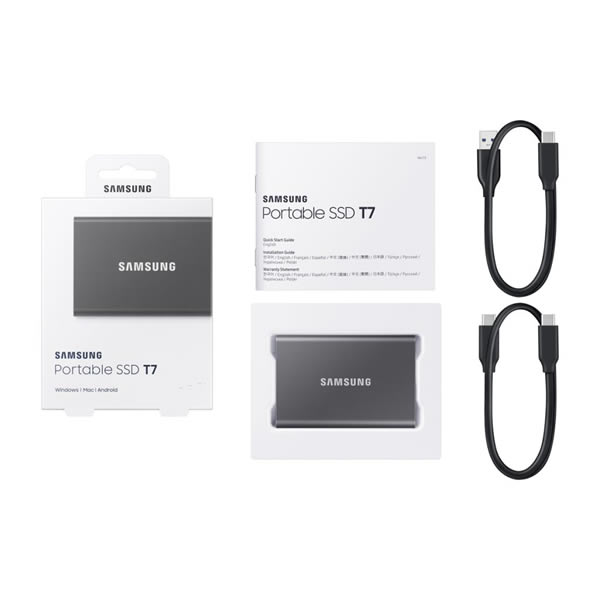 SAMSUNG MU-PC2T0T/IT 2TB Portable SSD T7 チタングレー