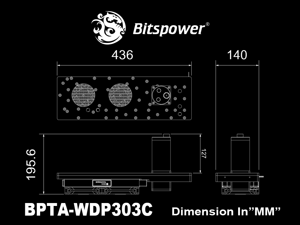 【取寄せ商品:通常納期約1週間】 Bitspower Touchaqua Sedna 303C for IN WIN 303C ATX Chassis