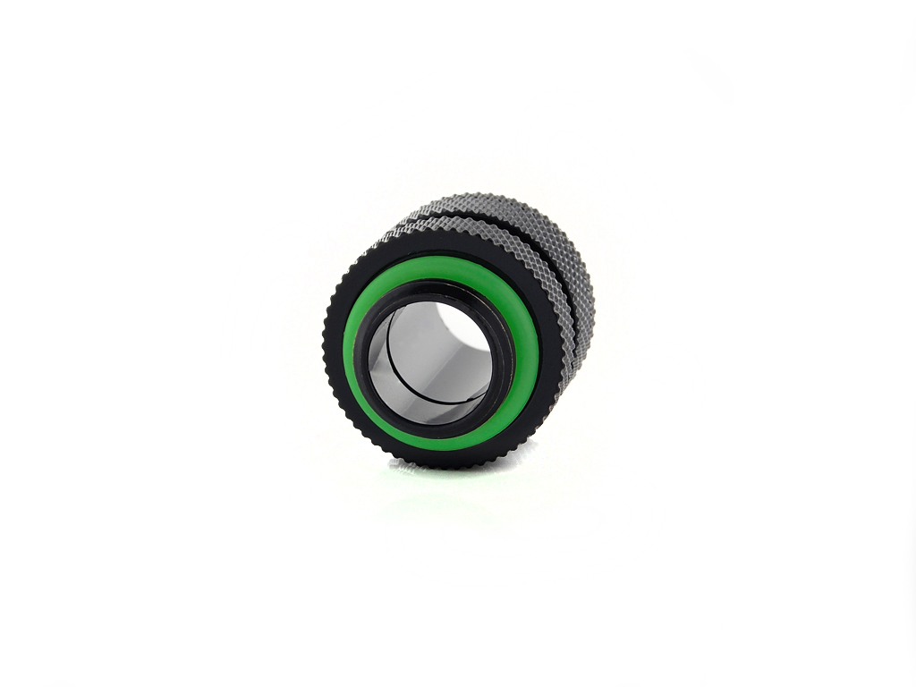"Bitspower Matt Black Mini Dual G1/4"" Adjustable Aqua Link Pipe (16-22MM)"