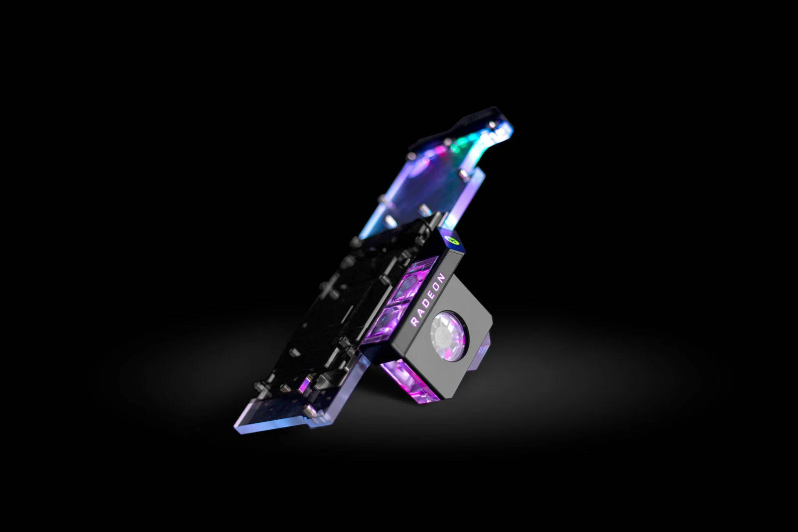 EK WaterBlocks EK-Quantum Scalar Flow Indicator Top-Bottom D-RGB - Black