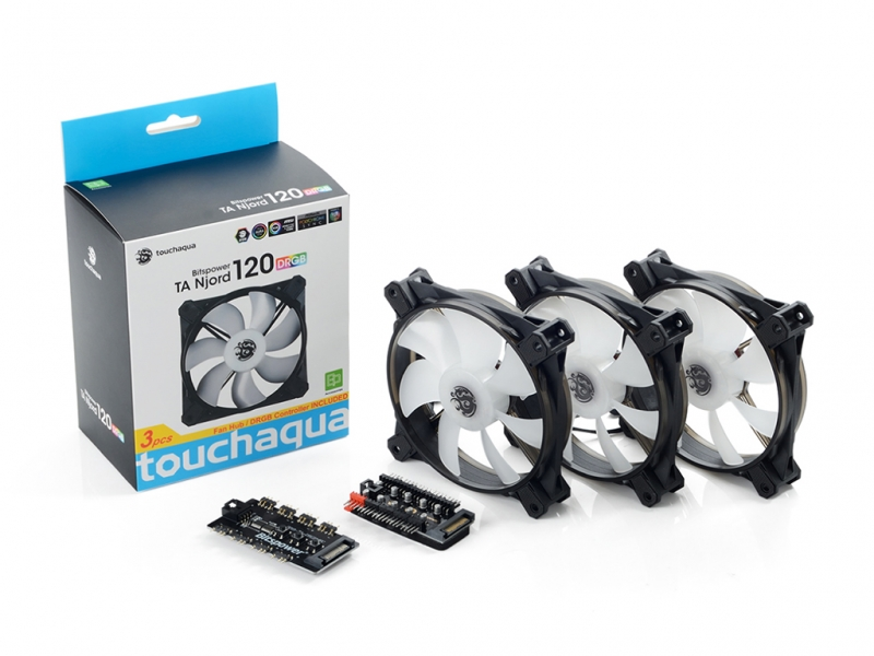Bitspower Touchaqua NJORD 120 PWM Fan Digital RGB (3pcs)