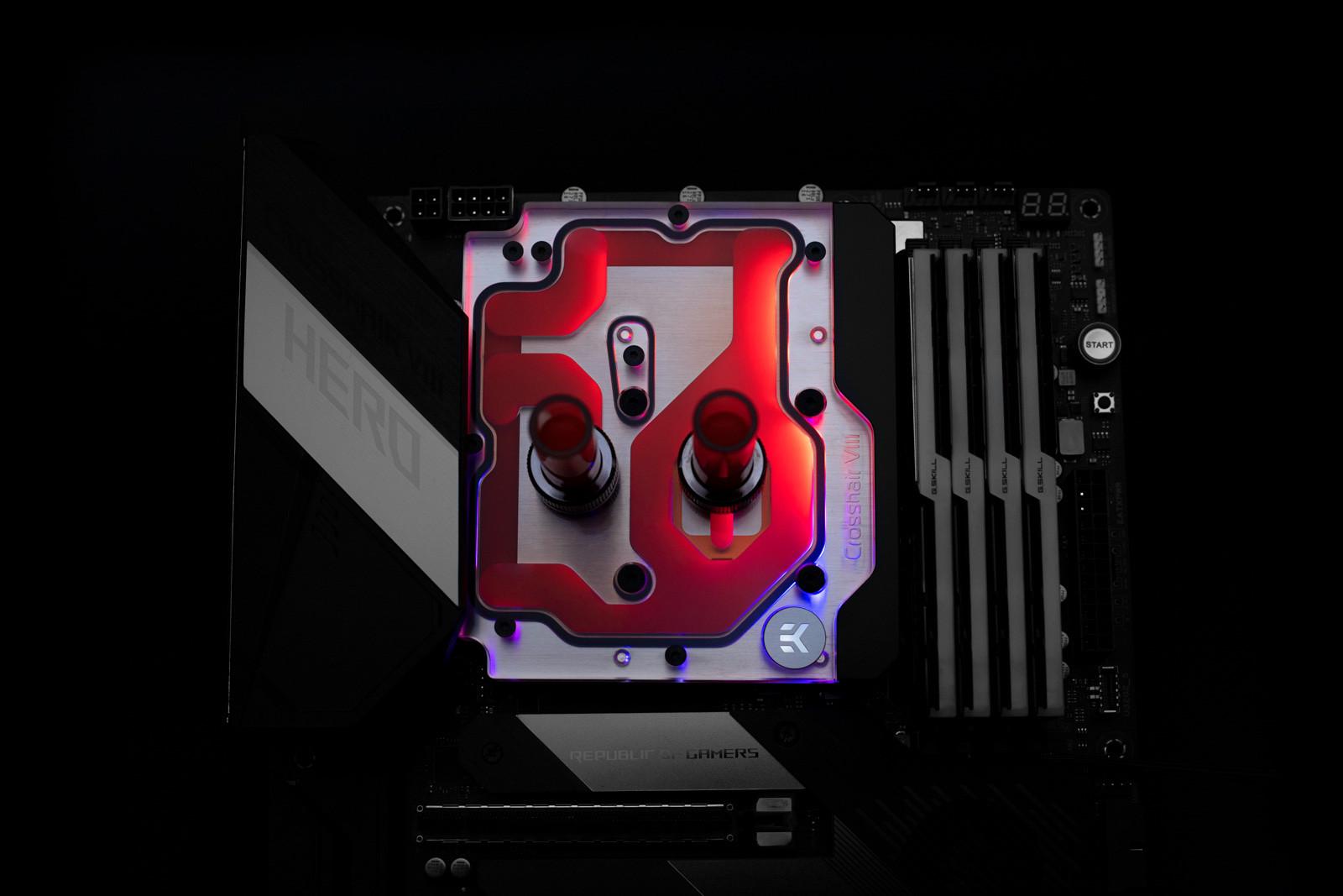 EK WaterBlocks EK-Quantum Momentum ROG Maximus XII Hero D-RGB - Plexi