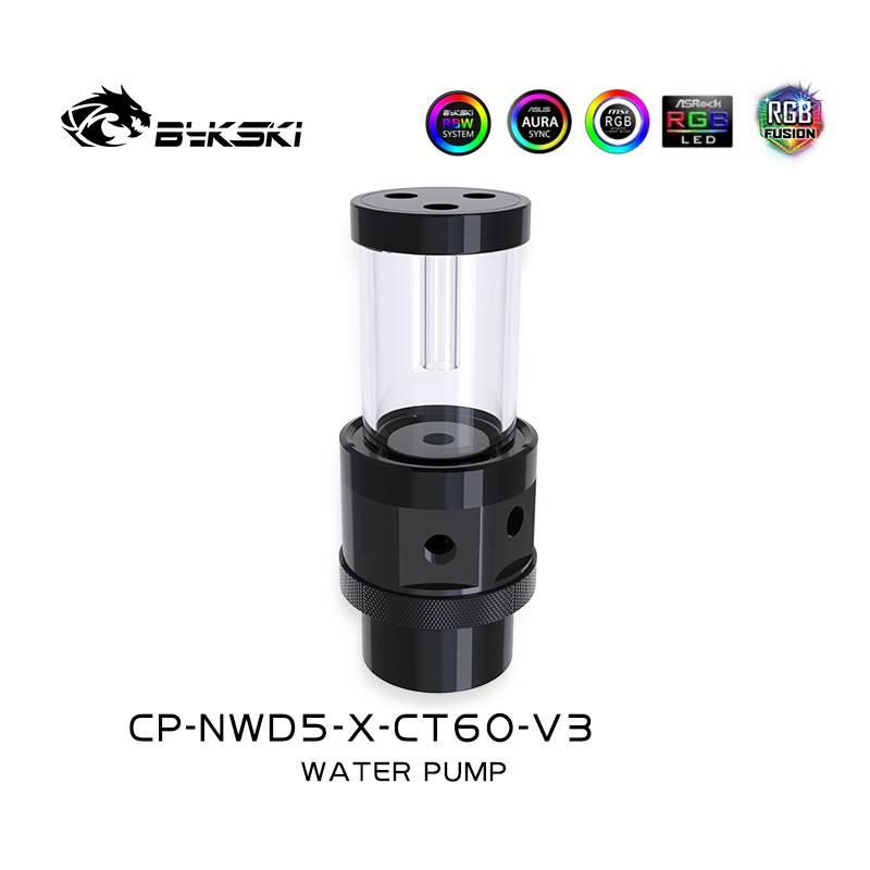 Bykski D5 Pump / 150mm PMMA Reservoir Combo - Black w/ 5v Addressable RGB