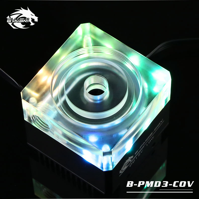 Bykski B-PMD3-COV Silver Luminous Water Pump DDC Pump Head 6m Flow 600L/H