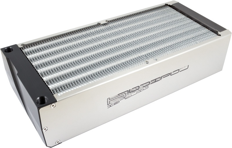 aquacomputer airplex radical 4/280, aluminum fins