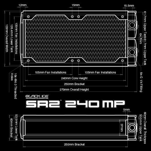 【お取寄商品:通常納期約1週間】 Hardware Labs Black Ice SR2 240 MP