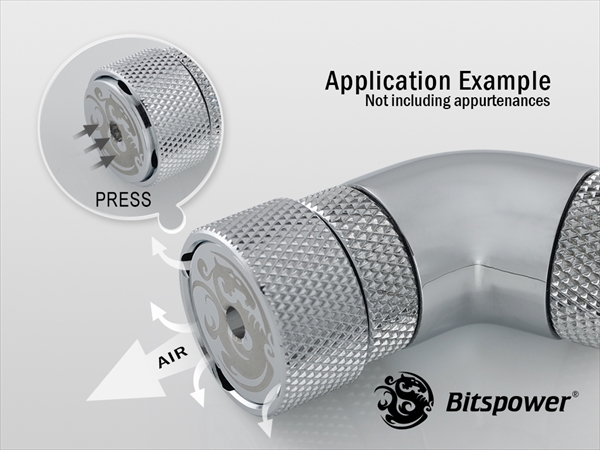 """Bitspower G1/4""""Silver Shining AIR-Exhaust Fitting"""