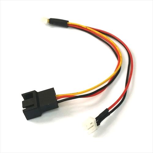 modDIY Mini 3-Pin GPU (Female) to Mini 2-Pin GPU (Male) / 4-Pin Fan (Male) Cable Splitter (CO421)